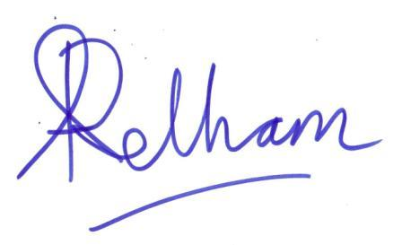 Ann Pelham signature